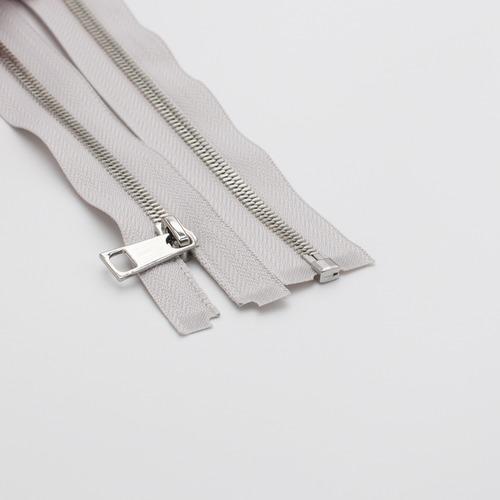 Молния металл №5СТ никель разьем 65см D316 серый фото 1