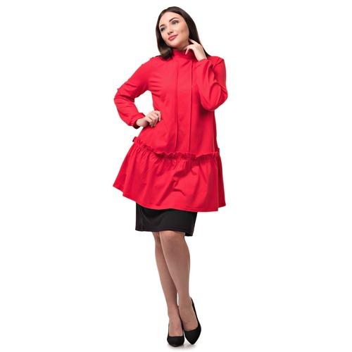 Платье-туника Т 128 красный р 46 фото 1