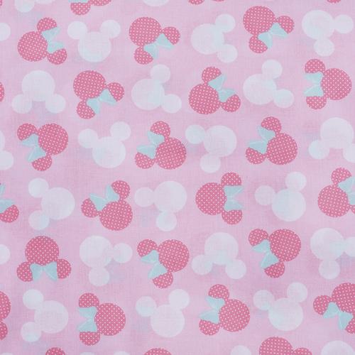 Отрез 150х150 Перкаль 150 см 13176/1 Минни цвет розовый фото 1