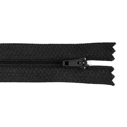 Молния пласт юбочная №3 20 см цвет черный фото 1