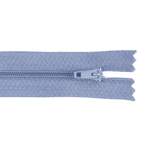 Молния пласт юбочная №3 20 см цвет голубой фото 1