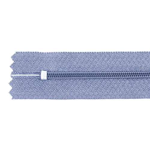 Молния пласт юбочная №3 20 см цвет голубой фото 2