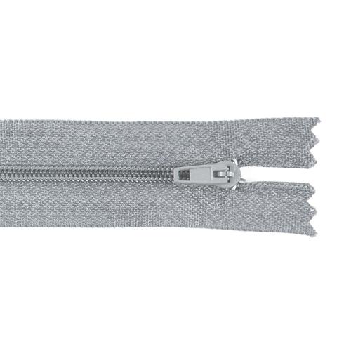 Молния пласт юбочная №3 20 см цвет серый фото 1