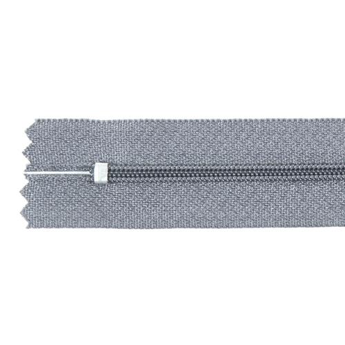Молния пласт юбочная №3 20 см цвет серый фото 2