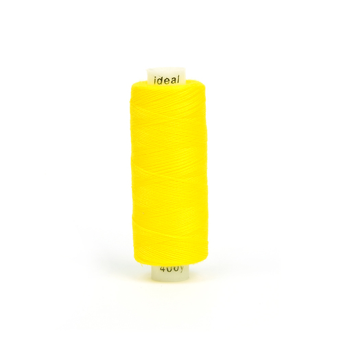 Нитки бытовые IDEAL 40/2 366м 100% п/э, цв.123 желтый фото 1