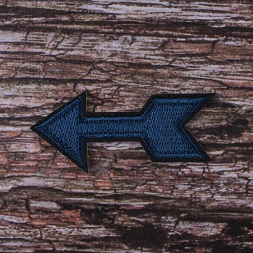 Термоаппликация ТАВ105 стрела синяя 8,5*3см фото 1