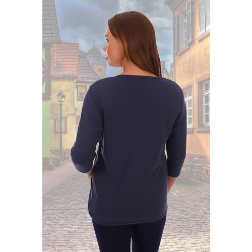 Блузка Николина 5182 синяя р 52 фото 3