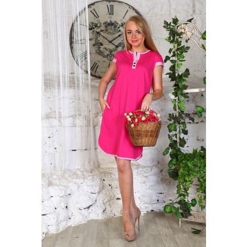 Туника Полина кулирка розовая В258 р 46 фото 1