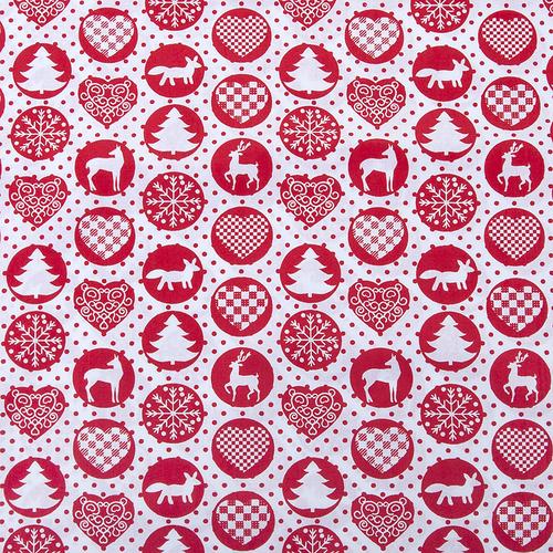 Ткань на отрез поплин 150 см 428/20 цвет красный фото 1