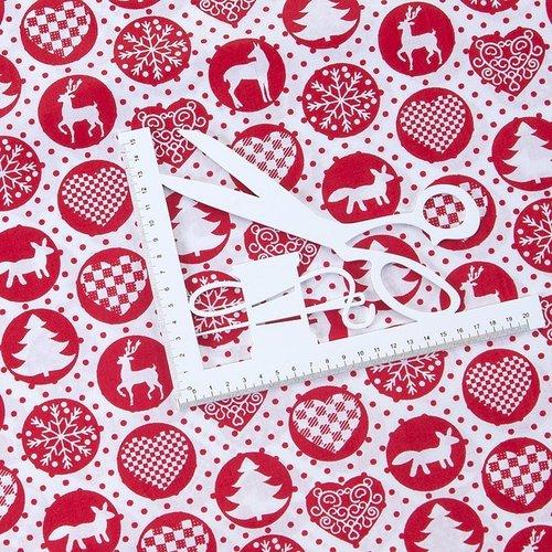 Ткань на отрез поплин 150 см 428/20 цвет красный фото 2