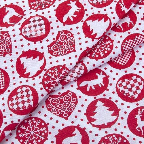 Ткань на отрез поплин 150 см 428/20 цвет красный фото 4
