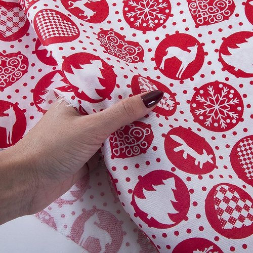 Ткань на отрез поплин 150 см 428/20 цвет красный фото 3