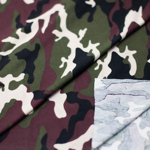 Ткань на отрез кулирка Камуфляж R4015-V1 цвет хаки фото 3