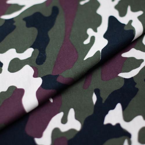 Ткань на отрез кулирка Камуфляж R4015-V1 цвет хаки фото 2