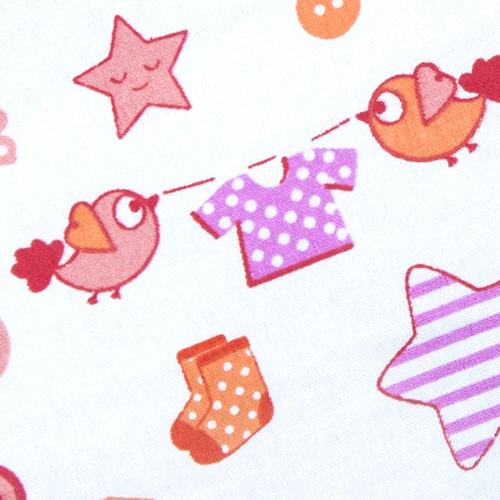 Ткань на отрез фланель белоземельная 75 см 7200/2 Малышок цвет розовый фото 2