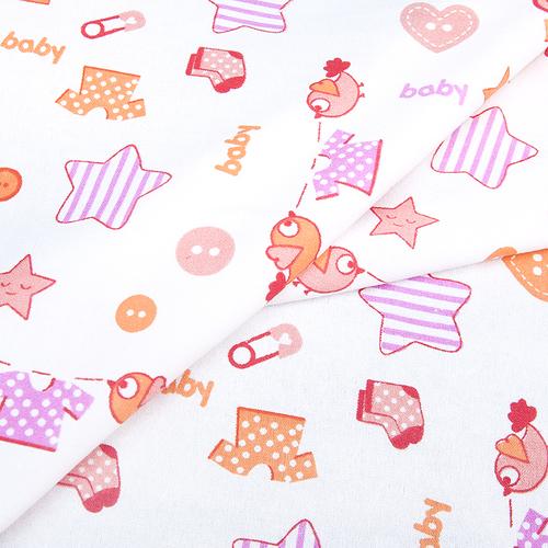 Ткань на отрез фланель белоземельная 75 см 7200/2 Малышок цвет розовый фото 3