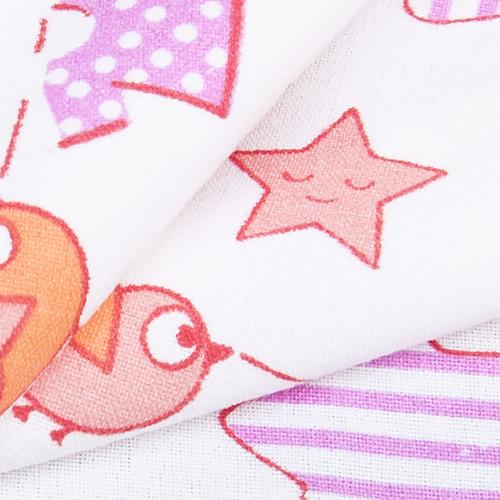 Ткань на отрез фланель белоземельная 75 см 7200/2 Малышок цвет розовый фото 4
