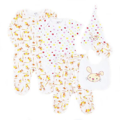 Костюм для новорожденных 6 предметов цвет персик рост 68 фото 1