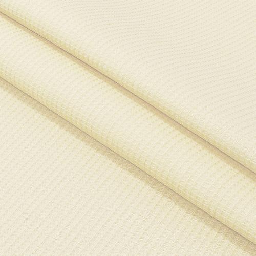 Ткань на отрез вафельное полотно гладкокрашенное 150 см 165 гр/м2 цвет ваниль фото 1
