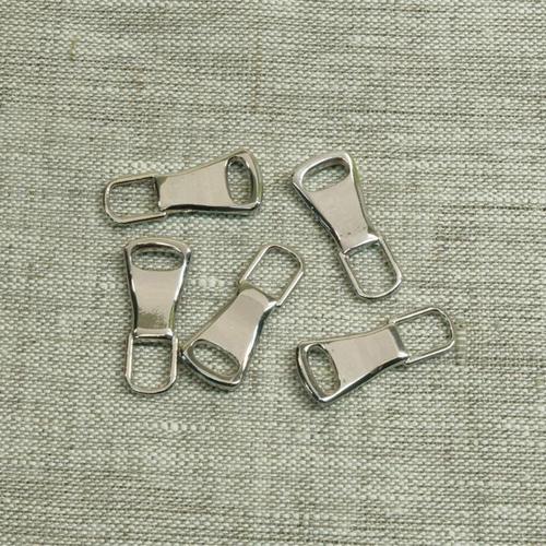 Подвес к бегунку №3 металл никель (юбка) фото 1