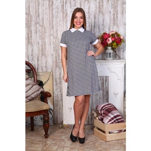 Платье Диана короткий рукав гус.лапки Д440 р 42 фото 1