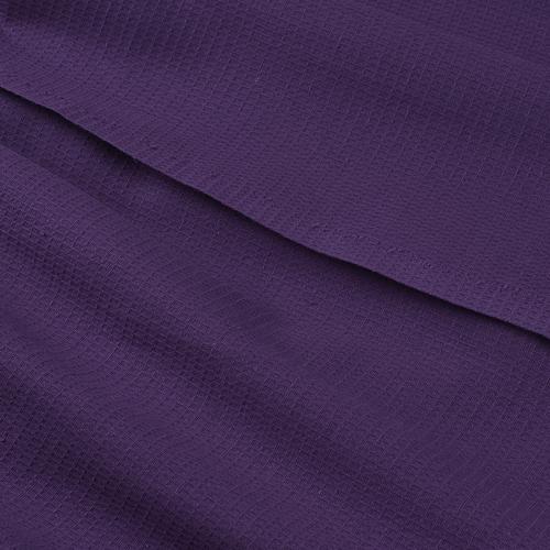 Вафельная накидка на резинке для бани и сауны женская цвет черника фото 2