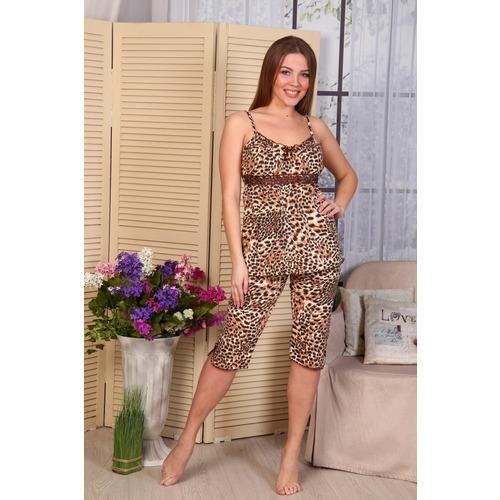 Пижама Царица Бриджи Леопард New Б7 р 48 фото 1