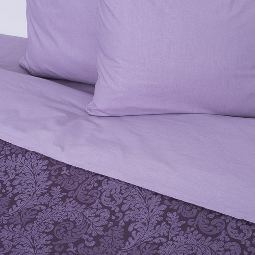 Постельное белье из поплина 11572/1 Вирджиния фиолетовая 1.5 сп фото 2