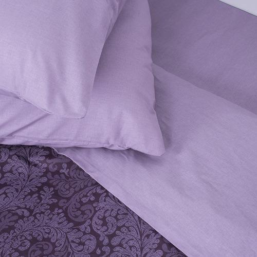 Постельное белье из поплина 11572/1 Вирджиния фиолетовая 1.5 сп фото 3