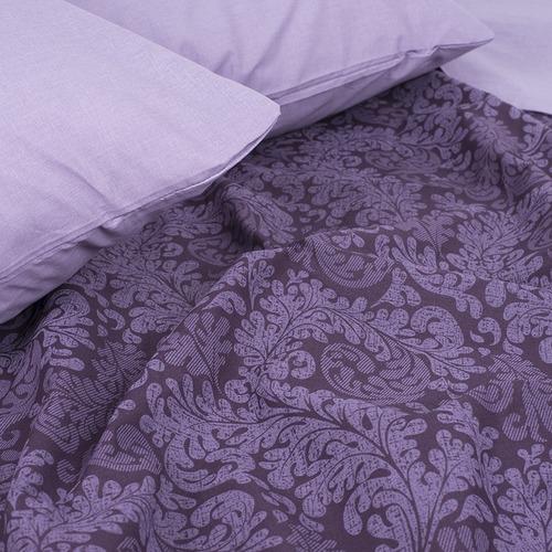 Постельное белье из поплина 11572/1 Вирджиния фиолетовая 1.5 сп фото 5