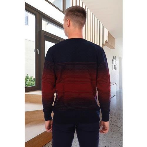 Джемпер 6531 цвет бордовый р 54 фото 2