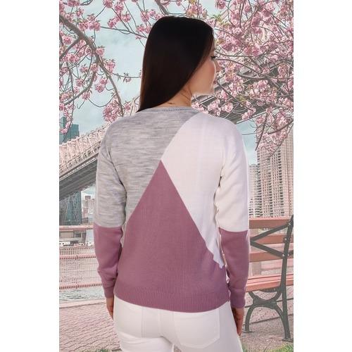 Джемпер 6567 цвет лиловый р 46-48 фото 2