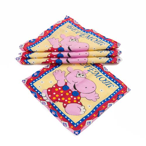 Платок носовой детский ситец Шуя Зверята 10 шт фото 4