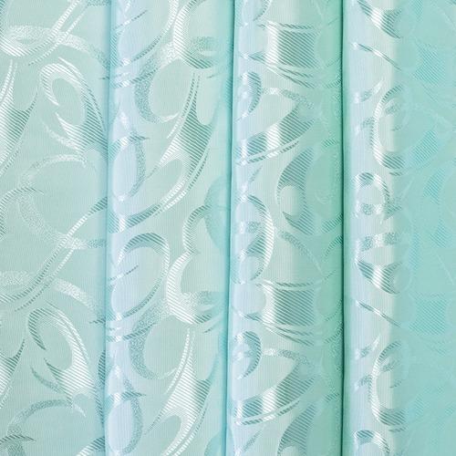 Портьерная ткань 150 см 32 цвет бирюзовый фото 1