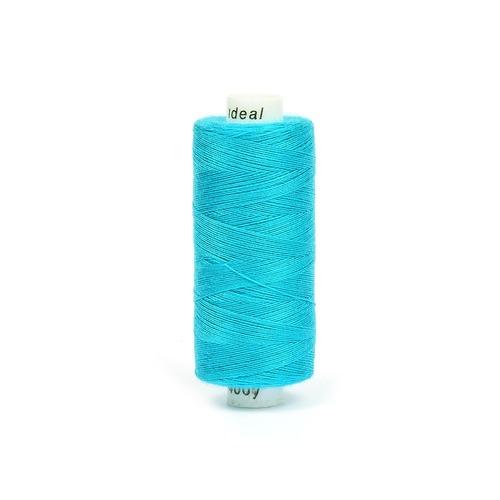 Нитки бытовые IDEAL 40/2 366м 100% п/э, цв.348 голубой фото 1