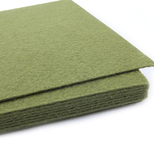 Фетр листовой жесткий IDEAL 1мм 20х30см арт.FLT-H1 цв.663 болотный фото 2