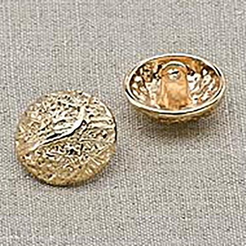 Пуговица металл ПМ7 18мм золото уп 12 шт фото 1
