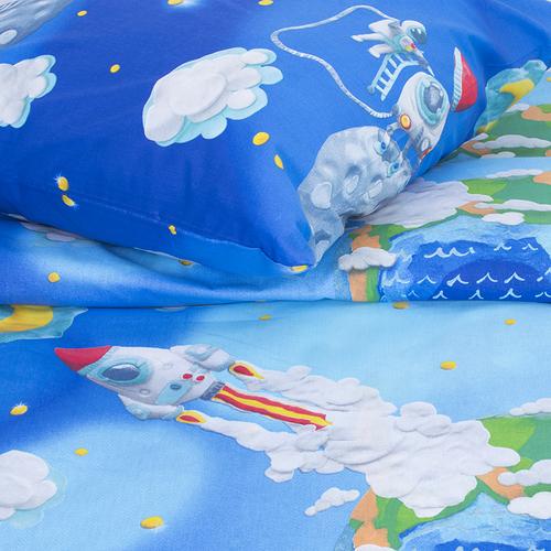Детское постельное белье 13095/1 Пластилиновый космос 1.5 сп перкаль фото 4