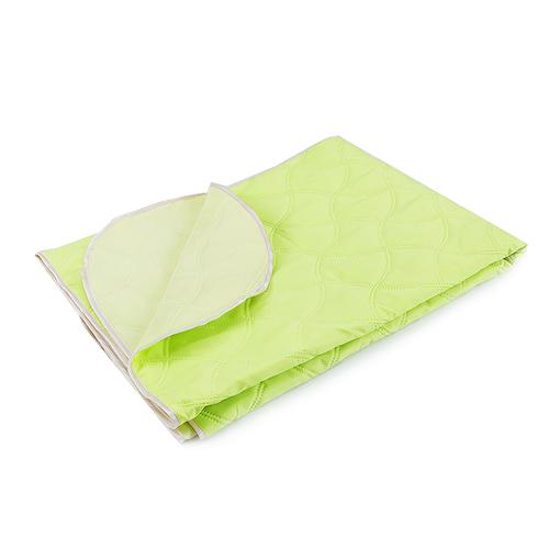 Покрывало детское ультрастеп двухстороннее цвет молодая зелень 105/150 фото 1