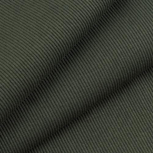 Ткань на отрез кашкорсе с лайкрой 2802 цвет хаки фото 1