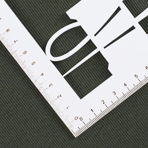 Ткань на отрез кашкорсе с лайкрой 2802 цвет хаки фото 2