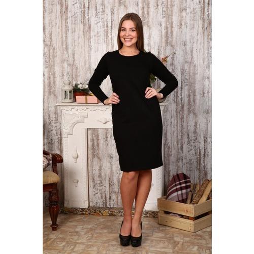 Платье Светлана футер черное Д415 р 54 фото 1