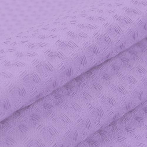Ткань на отрез вафельное полотно гладкокрашенное 150 см 240 гр/м2 7х7 мм цвет 622 сиреневый фото 1
