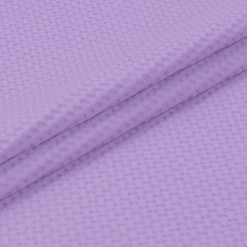 Ткань на отрез вафельное полотно гладкокрашенное 150 см 240 гр/м2 7х7 мм цвет 622 сиреневый фото 2