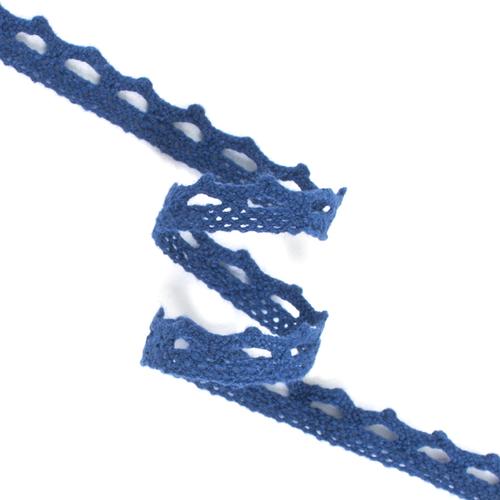 Кружево лен DX1017 т.синий 1см 1метр фото 1