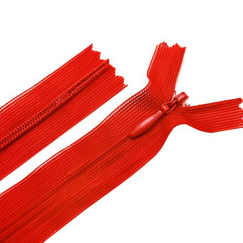 Молния пласт потайная №3 20 см цвет красный фото 1