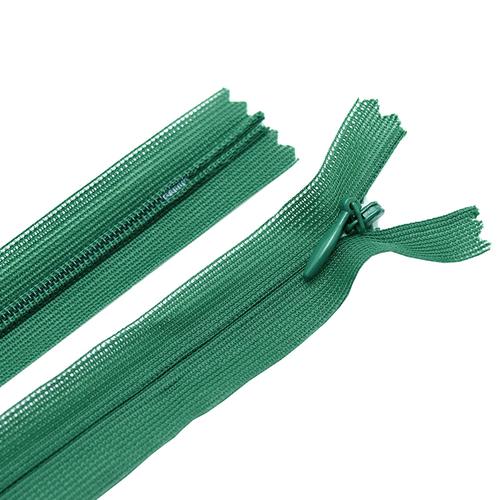 Молния пласт потайная №3 20 см цвет зеленый фото 1