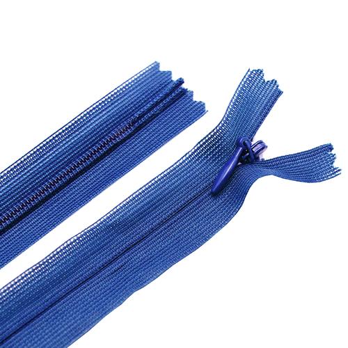 Молния пласт потайная №3 20 см цвет т-синий фото 1