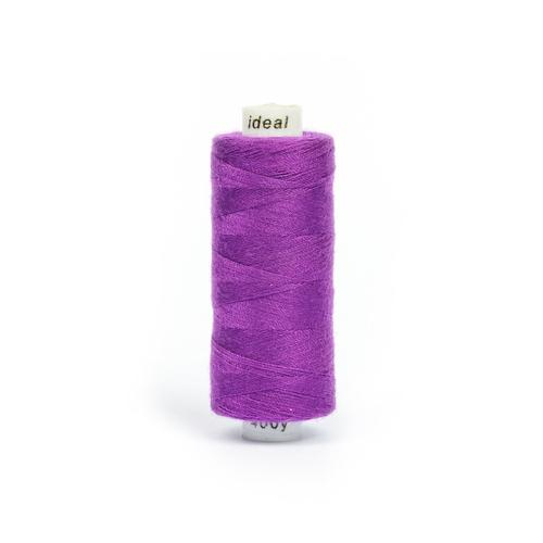 Нитки бытовые IDEAL 40/2 366м 100% п/э, цв.195 фиолетовый фото 1