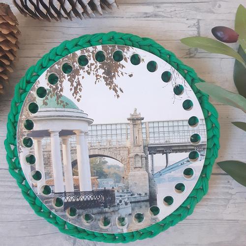 Круглое донышко с печатью Парк Горького 15см фото 1